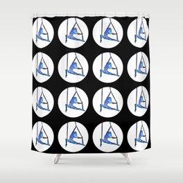 Galaxy Aerialist Shower Curtain