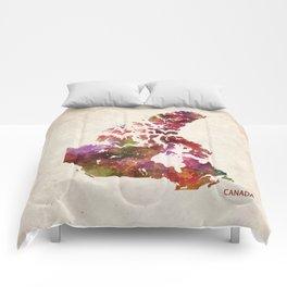 Canada map Comforters