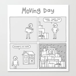 Moving Day! Canvas Print
