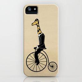 Penny Farthing Giraffe iPhone Case