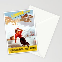 Limone Piemonte ski Italy Stationery Cards