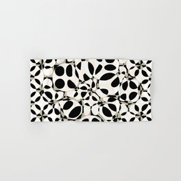black and white circles in squares Hand & Bath Towel