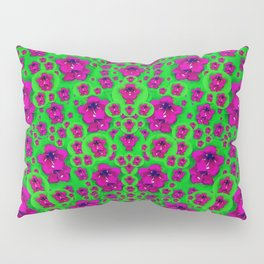 Fantasy Valentine in floral love and peace time Pillow Sham