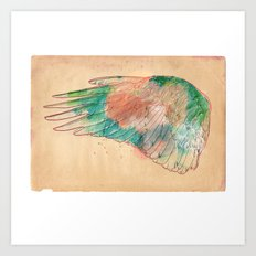 wing left Art Print