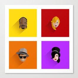 Pop Icons Canvas Print