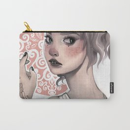 Woman with Tattoo Carry-All Pouch