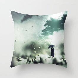 Walking On The Moon Throw Pillow
