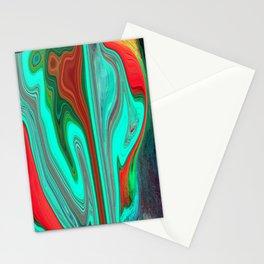 Green V Rust 3 Stationery Cards
