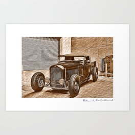 car automotive art Art Print