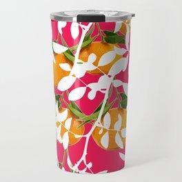 Hiding Mandarins (Pink) Travel Mug