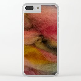 Dimensional coral wool Clear iPhone Case