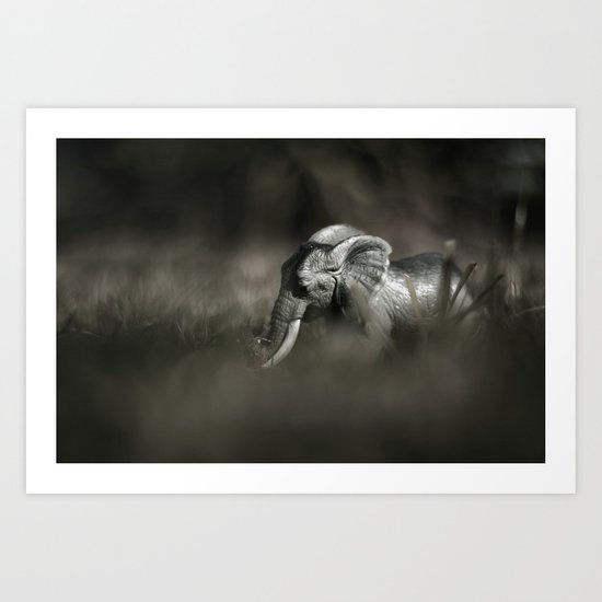 Plastic elephant toy Art Print