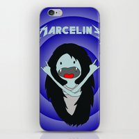 marceline iPhone & iPod Skins featuring Metal Marceline by totemxtotem