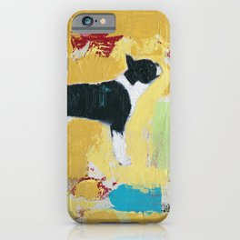 Boston Terrier Painting Art iPhone Case