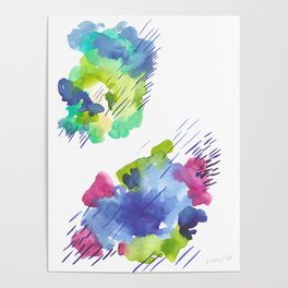 180802 Beautiful Rejection 14| Colorful Abstract Poster