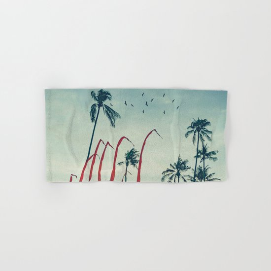 Coconut - Palms and Flags Hand & Bath Towel