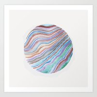 geode Art Prints featuring GEODE CIRCLE by shealeenlouise