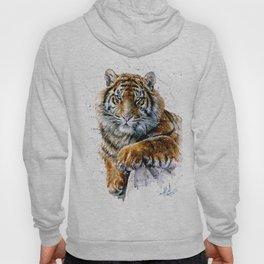 Tiger watercolor Hoody