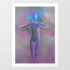 Cybergirl Art Print