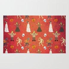 Unicorn Halloween Pattern Rug