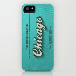 Vintage Chicago iPhone Case