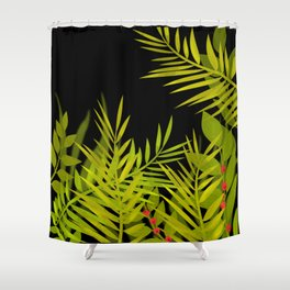 The leaves and berries. Shower Curtain