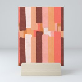Line In Coral #society6 #abstractart Mini Art Print