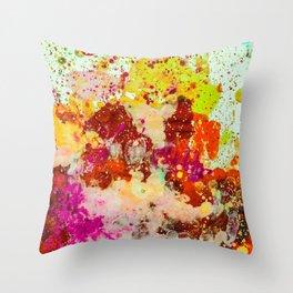 Neon Splash Throw Pillow