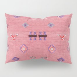 N61 - Lovely Pink Traditional Boho Farmhouse Moroccan Style Artwork Pillow Sham