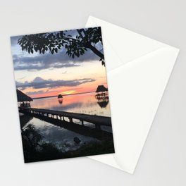 Sunset on Lake Peten Itza - Guatemala  Stationery Cards