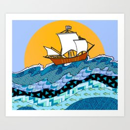 Sailing the High Seas Art Print