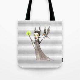 Maleficent and Diaval Tote Bag