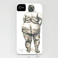 mujer en la ducha iPhone (4, 4s) Slim Case