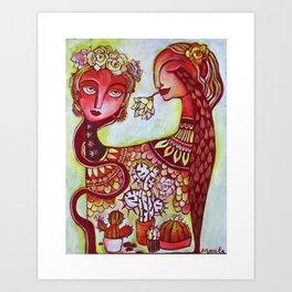 Flora and Frida Art Print