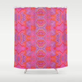 Mad pink marble 2 Shower Curtain