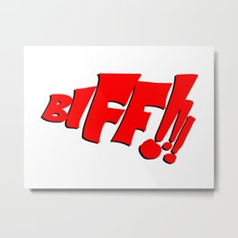 1966 Bat TV Show BIFF!!! Art Metal Print