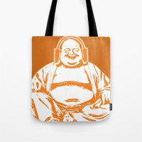 buddah Tote Bags featuring Buddah Beats by ALLGOLD Creative