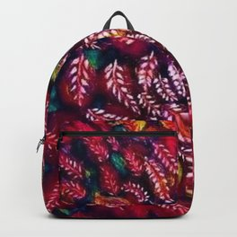 Flowers of the Red Tree, Crimson King Tree by Seraphine Louis Backpack