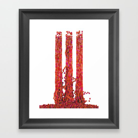 Collapse Framed Art Print