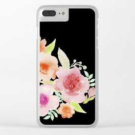 Spanish flowers Clear iPhone Case