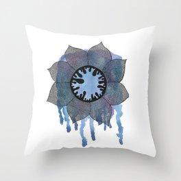 Winter Bloom Throw Pillow