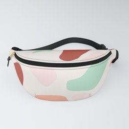 Terrazzo in Mint and Rust Fanny Pack