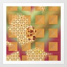 Grid & pattern Art Print