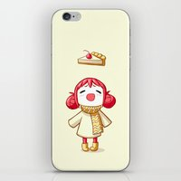 pie iPhone & iPod Skins featuring Cherry Pie by Freeminds