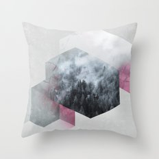 Exagonal Winter Throw Pillow