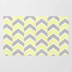 Sun and Clouds Chevron Rug