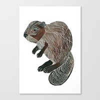 beaver Canvas Prints featuring Beaver by Fitz Farm