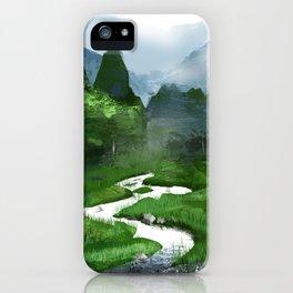 Forest River Illustration  iPhone Case