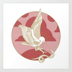 Hawk & Serpent Art Print