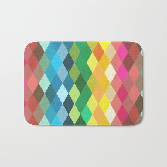 Diamond Color Spectrum Pattern Bath Mat